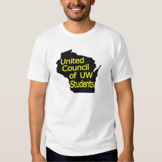 United Council New Logo Yellow on Black T Shirt