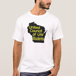 United Council New Logo Yellow on Black T-Shirt