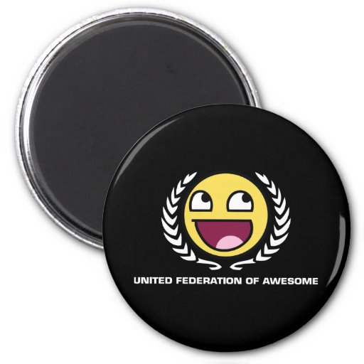 United Federation of Awesome 2 Inch Round Magnet
