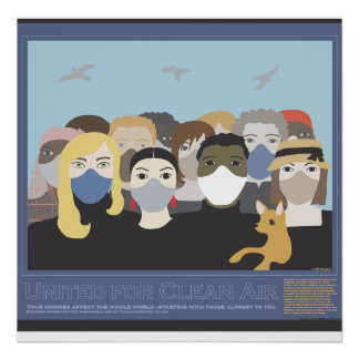 United For Clean Air Poster