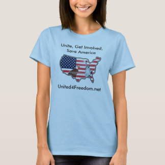 United for Freedom Ladies tee Shirt