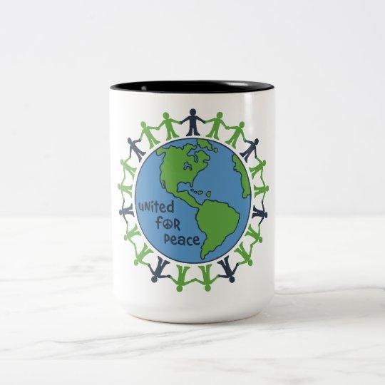 United For Peace Two-Tone Coffee Mug