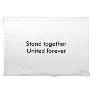 United forever cloth placemat