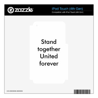 United forever iPod touch 4G skin