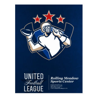 United Gridiron Football League Poster Postcards