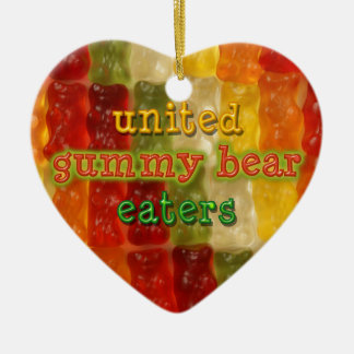 united gummy bear eaters ceramic ornament