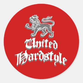United Hardstyle Classic Round Sticker