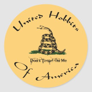 United Hobbits Of America Sticker
