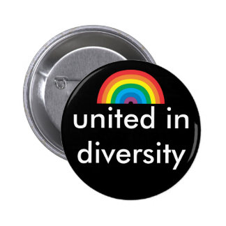united in diversity pinback button
