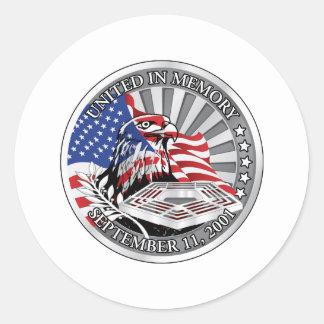 United In Memory Classic Round Sticker
