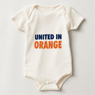 United in Orange Baby Bodysuit