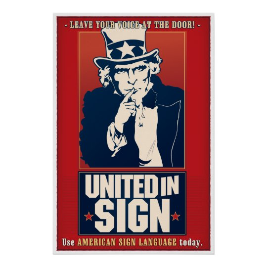 United in Sign (ASL) Poster