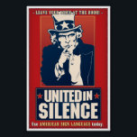 """United in Silence (ASL) Poster<br><div class=""""desc"""">A slight variation from the United in Sign poster. (Some have requested the word Sign be removed and replaced with Silence.)</div>"""