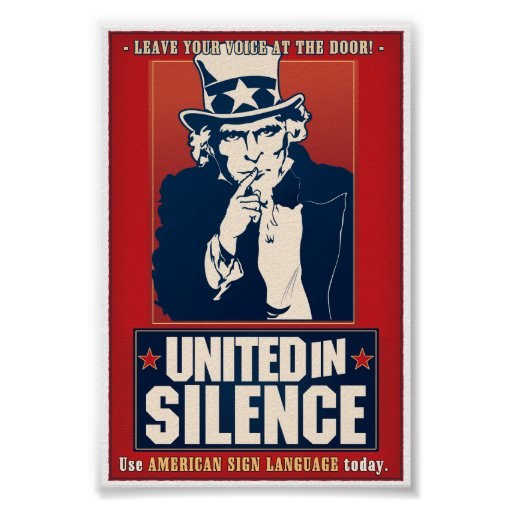 United in Silence (ASL) Posters