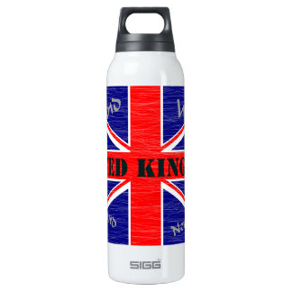 United Kingdom 16 Oz Insulated SIGG Thermos Water Bottle
