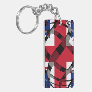 United Kingdom #1 Double-Sided Rectangular Acrylic Keychain