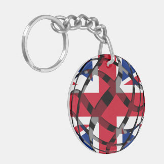 United Kingdom #1 Double-Sided Round Acrylic Keychain