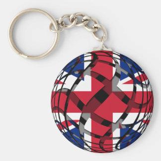 United Kingdom #1 Basic Round Button Keychain