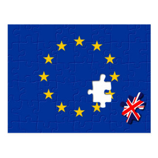 United Kingdom and European Union Postcard