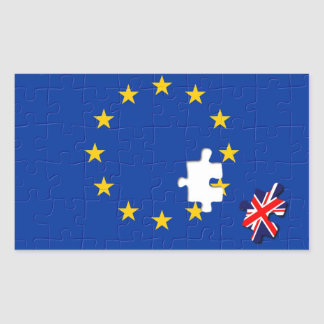 United Kingdom and European Union Rectangular Sticker