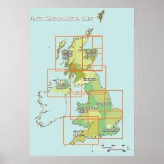 United Kingdom aviation chart