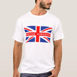 united kingdom british flag country text name T-Shirt