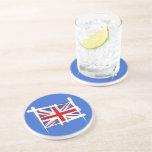 United Kingdom Brush Flag Beverage Coaster