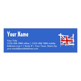 United Kingdom Brush Flag Business Card
