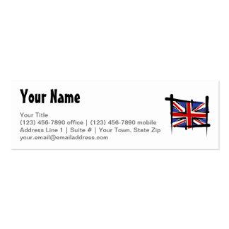 United Kingdom Brush Flag Business Cards