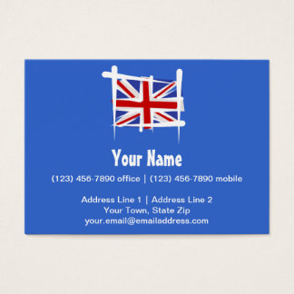 United Kingdom Brush Flag Business Card