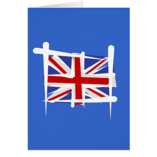 United Kingdom Brush Flag Card