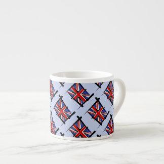 United Kingdom Brush Flag Espresso Cup
