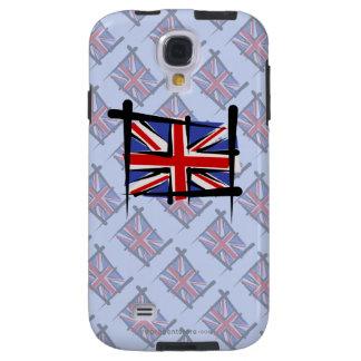 United Kingdom Brush Flag Galaxy S4 Case
