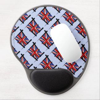 United Kingdom Brush Flag Gel Mouse Mats