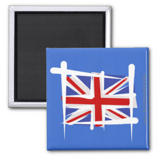 United Kingdom Brush Flag Refrigerator Magnet