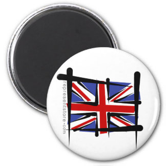United Kingdom Brush Flag Magnet