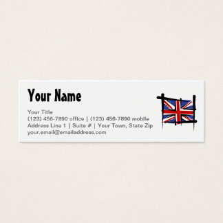 United Kingdom Brush Flag Mini Business Card