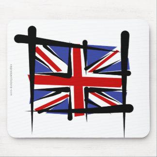 United Kingdom Brush Flag Mouse Pad