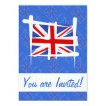 United Kingdom Brush Flag Personalized Invites