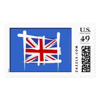 United Kingdom Brush Flag Stamps