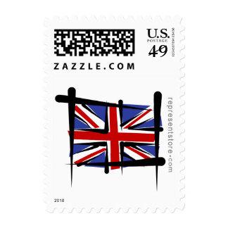 United Kingdom Brush Flag Stamp