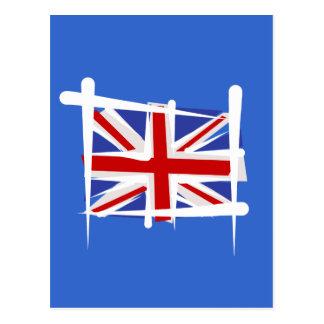 United Kingdom Brush Flag Postcard