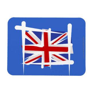 United Kingdom Brush Flag Flexible Magnet