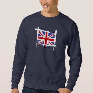 United Kingdom Brush Flag Pull Over Sweatshirt