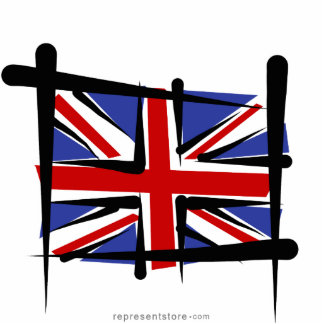 United Kingdom Brush Flag Statuette