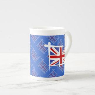 United Kingdom Brush Flag Tea Cup
