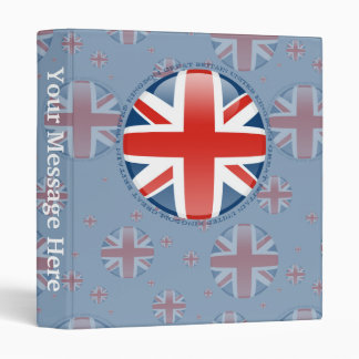 United Kingdom Bubble Flag Binder