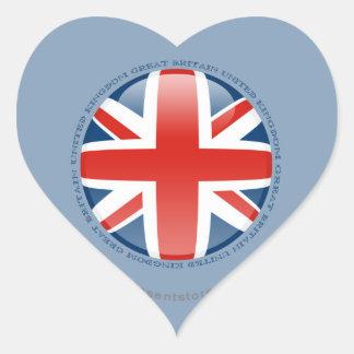 United Kingdom Bubble Flag Heart Sticker