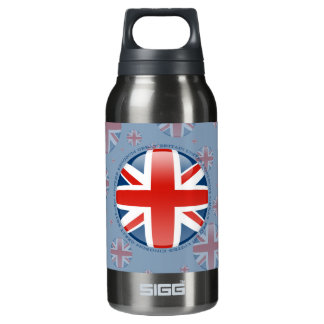 United Kingdom Bubble Flag Insulated Water Bottle