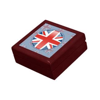 United Kingdom Bubble Flag Keepsake Box